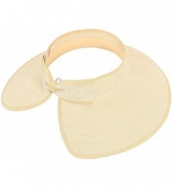 Simplicity Beach Roll Up Straw 283_Beige in Women's Sun Hats