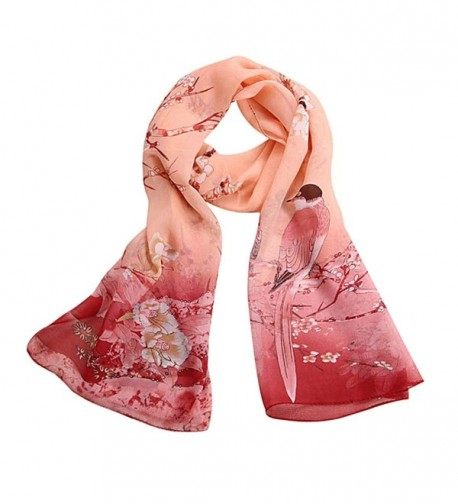 Qingfan Lightweight Scarves Fashion Stylish - Pink - CN185QU8DQT