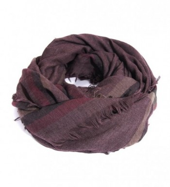 Women's Warm Plaid Blanket Scarf Gorgeous Checked Wrap Shawl - Purple - CH186M9OE0G