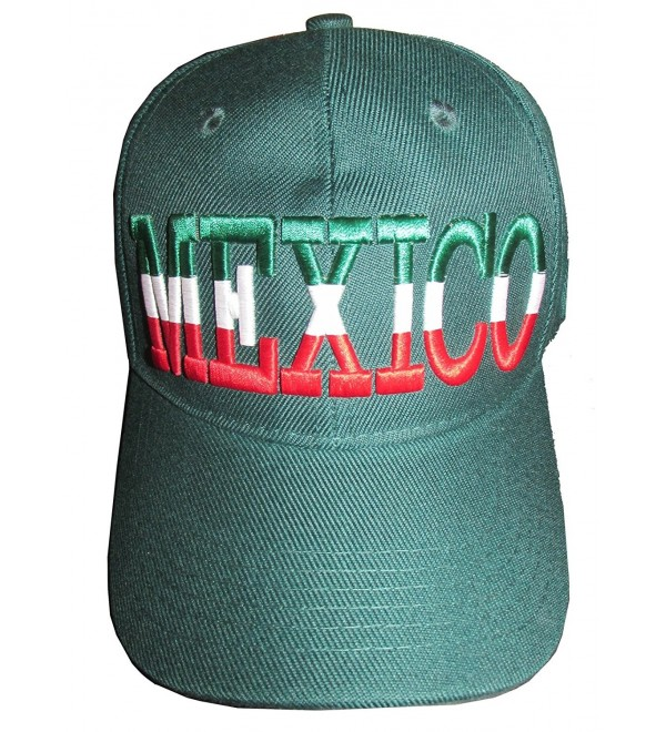 Altis Premium Mexico Curve Bill Hat - Adjustable Baseball Cap - Green - CI11KY0EJSR