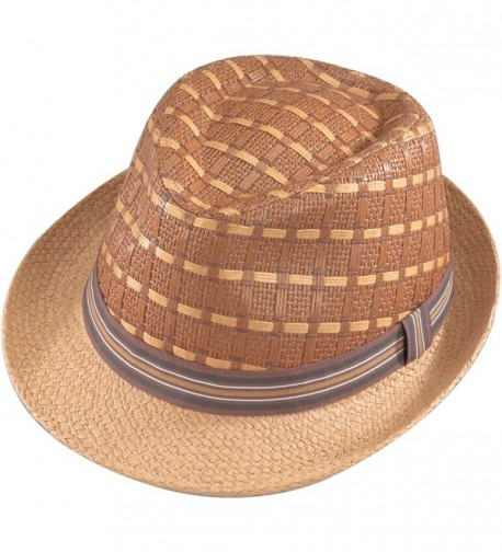 Henschel Mens Fedora Brown L