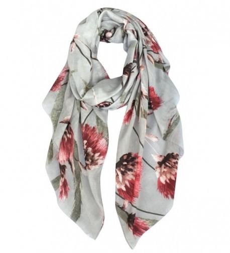GERINLY - Womens Evening Wrap Dandelion Print Shawl Scarf - Gray - CS186IGK8K2