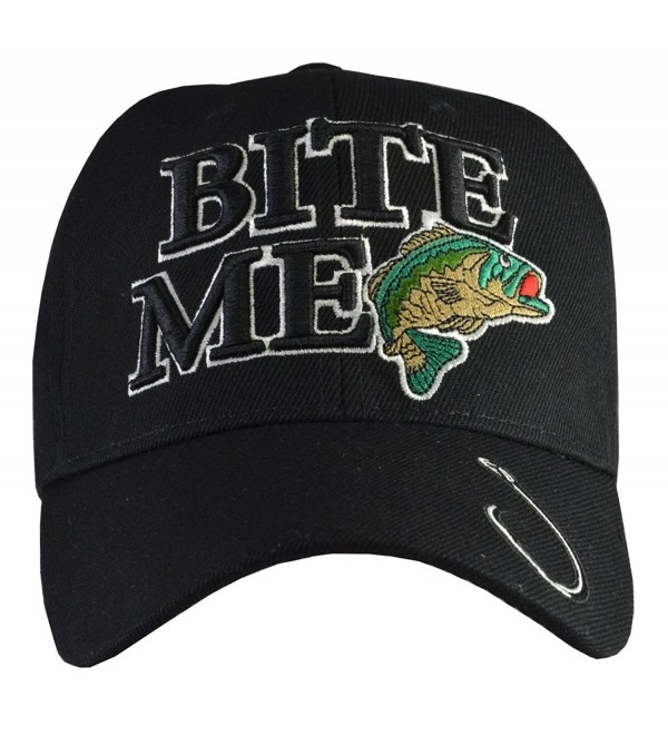 Incrediblegifts Outdoors Sports Hats (6 Styles) Fishing- Hunting - Bite Me Black - CB11P84JSGR