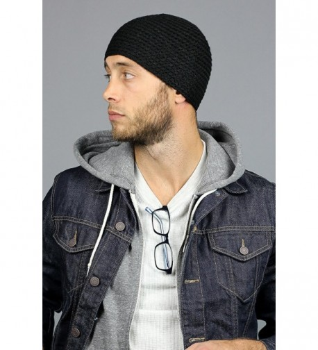 5532d22c6 Skull Cap by King & Fifth Beanie for Men + Highest Quality and Perfect Form  Fit + Knit Hat for Guys Black C711P24LK73