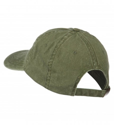 Fishing Green Fly Embroidered Washed in Men's Baseball Caps