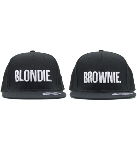 Blondie Brownie Snapback Pair Fashion Embroidered Snapback Caps Hip-Hop Hats - CT12H2AB3I9