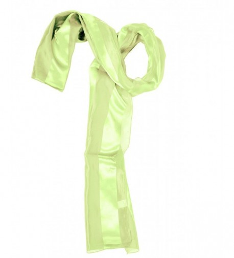 Solid Polyester Satin Scarf- LIME GREEN - CI1147GCEPJ