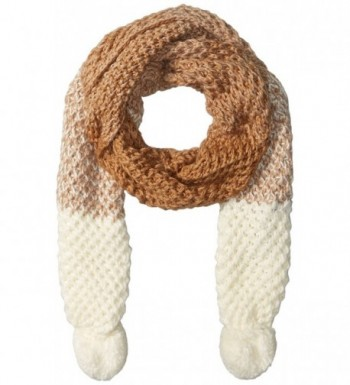 RAMPAGE Women's Oblong Scarf with Pom - Ivory - CP12HPYLESR