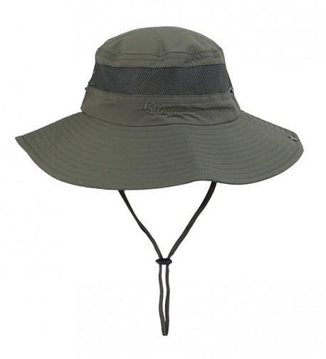 Senker Unisex Outdoor Bucket Mesh boonie Fishing Sun Hat - Army Green - CQ182I0G8K0