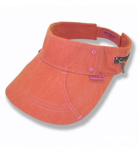 Hothead Large Brim Sun Visor Hat - Biowash in Orange - CB11KF41W3H