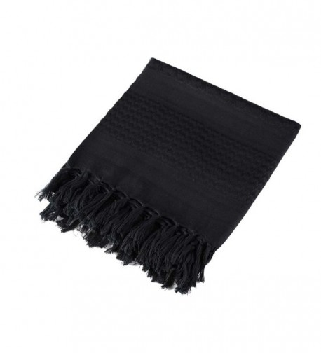 Men's Multi-function Arabian Shemagh Military Scarf Tactical Desert Keffiyeh - Black - CZ187A88TYI