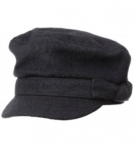 San Diego Hat Company Women's Brown Wool Blend Cabbie - Charcoal - CF11KYOJC9J