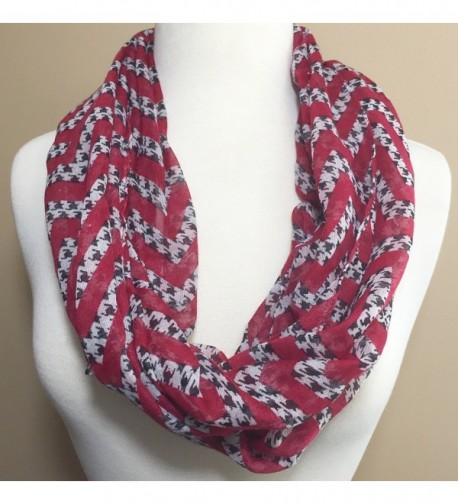 Houndstooth Lightweight Thin Infinity Scarf