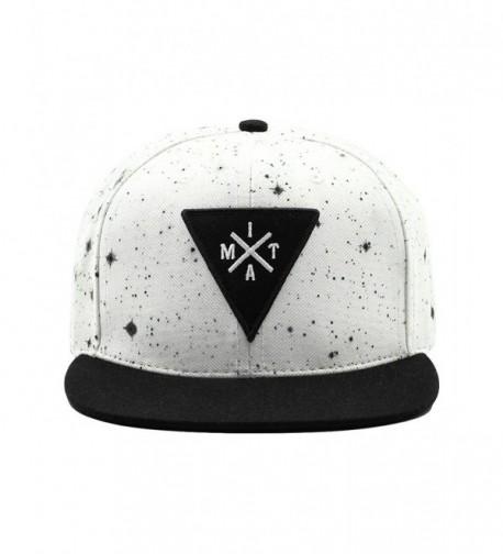 Into The AM Adjustable Snapback Hats - Flat Brim Galaxy Print- Tie Dye Cap Designs - White Space Minimalist - CU185KMNKRK