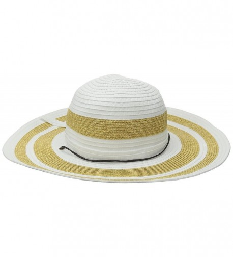 San Diego Hat Company Women's 4.5-Inch Sun Brim Hat With Adjustable Cord - White - CK126AOQZB3