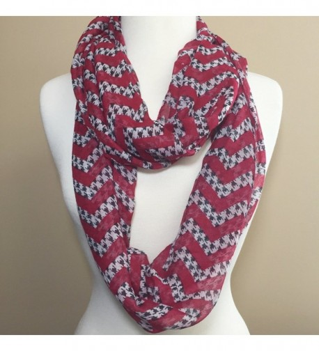 Houndstooth Lightweight Thin Infinity Scarf in Fashion Scarves