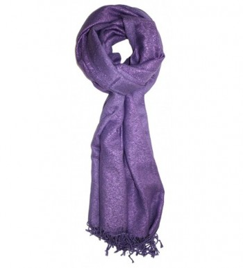 Ted and Jack - Dreams of Stardom Sparkling Metallic Pashmina Scarf - Lavendar - CA183NIRONS