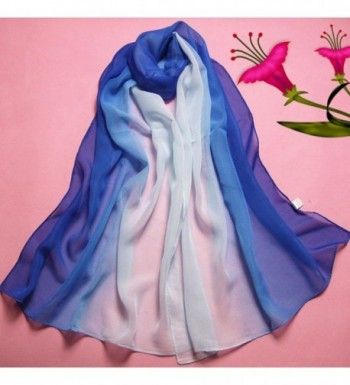 Luweki Fashion Gradient Chiffon Scarves in Cold Weather Scarves & Wraps