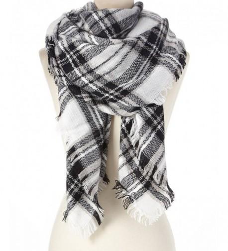 Large Blanket Scarf Shawl Black