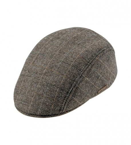 Warm Wool Blend Petersham Ivy League Flat Cap - CO11PAJSLCL