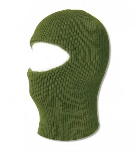 TopHeadwear One 1 Hole Ski Mask - Olive - C511Y93LMKN