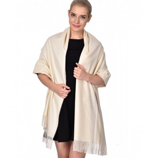 ADVANOVA Ideal Gift for Women Cashmere Feel Large Blanket Scarf Spring Evening Wrap - White (Gift Box) - CQ186D8Y2UR
