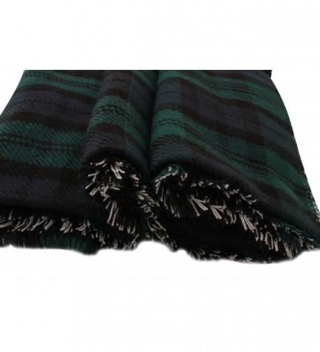 BeAllure Checked Blanket TrimsWomens Reversible
