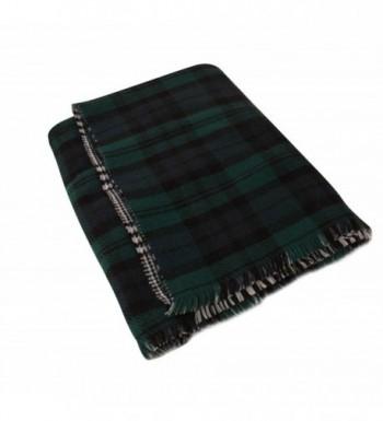 BeAllure Checked Blanket TrimsWomens Reversible in Wraps & Pashminas