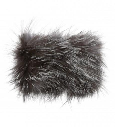 La Fiorentina Women's Fur Headband - Gray - CG12E2RZFHB