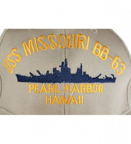 Embroidered Missouri Battle Ship Khaki