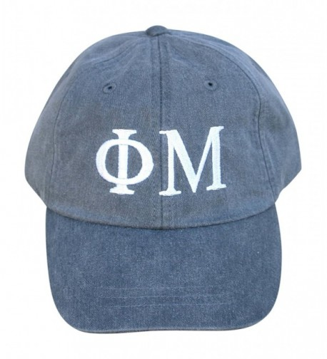 Mega Greek Womens Phi Mu Baseball Cap - Charcoal - C612DLULEW5