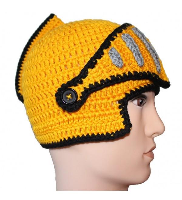 Free Fisher Unisex Knit Beanie Stubble Beard Soldier Yellow - CA11OX65KQD