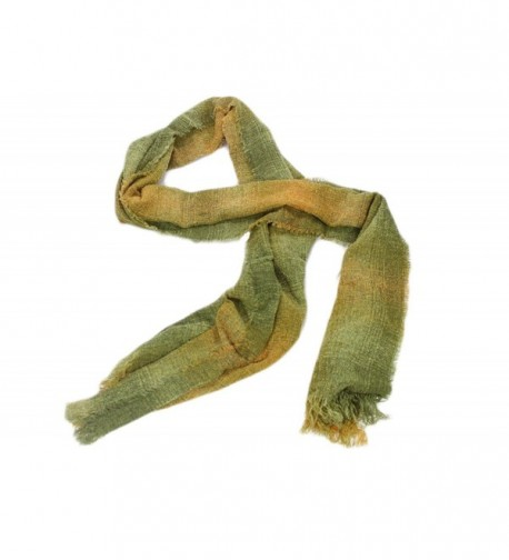 "Long Scarves 84"" Soft Lambswool Blend Multiple Colors Irish Made - Lime Check - CB12NYK4ANP"