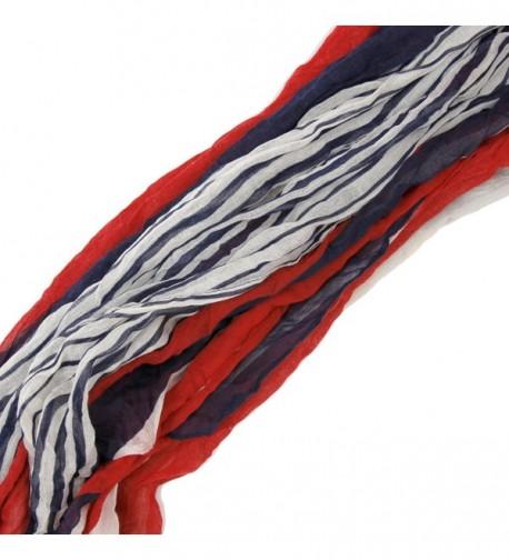 Bucasi Nautical White Stripe Scarf