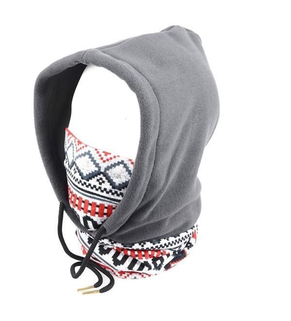 Triwonder Balaclava Fleece Warmer Winter - Grey - C412O0TKK0Y