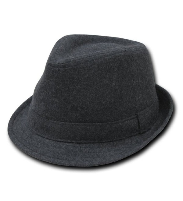 Decky Melton Wool Fedora Hat Charcoal Grey (2 Sizes Available) - CR110E4UJCN