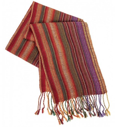 Strecken Women's HAND MADE 100% Alpaca Lightweight Shawl Scarf Fashion Accessory - Multicolor - CO12O13IL3H