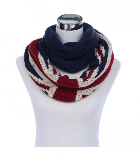 Premium UK British Flag Union Jack Winter Knit Infinity Loop Circle Scarf - CM11PU46SU9