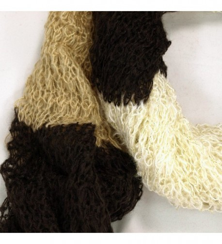 Winter Striped Shimmer Scarf Brown in Cold Weather Scarves & Wraps