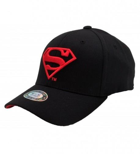 POPKORS Superman Embroidery Flex Fit Baseball