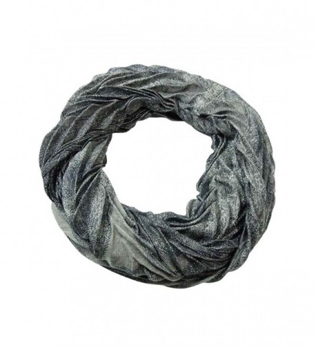 Collection Eighteen Women's Paisley Pleated Infinity Scarf - Grey - C511Q05RSHJ