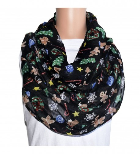 TOOTO Merry Christmas Sheer Lightweight Scarf Print Shawl For Christmas Season - Infinity Scarf - C0188Y9HCT3
