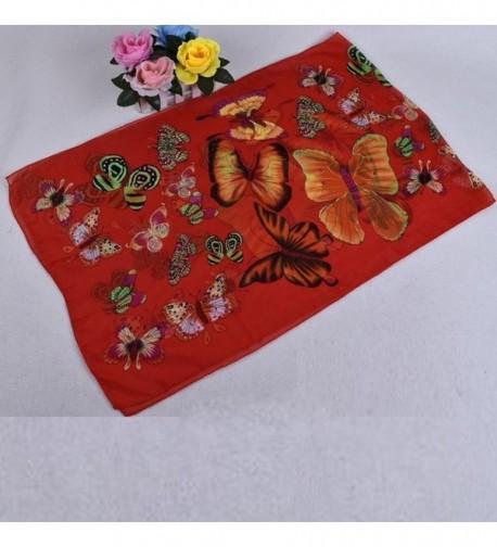 Leewa Trendy Women Chiffon Butterfly