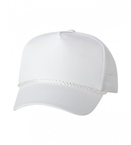 Valucap 8804H - Five-Panel Trucker Cap - White - C111FAFAW0D
