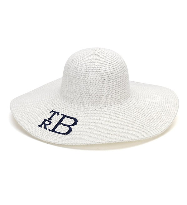 Wholesale Boutique Floppy Hat Personalized - White - CF12G2D8X5J
