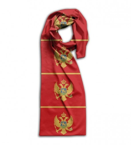 Montenegro Flag Scarf Scarfs Scarves Double Sided Printing - White - CV188UESNH2