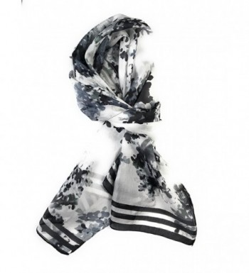 HTrends Womens Genuine Abstract Flowers in Fashion Scarves
