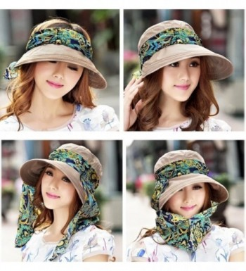 Roll Visor Protection Protector Khaki in Women's Sun Hats