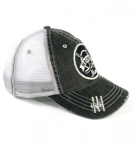 13797b294 Hockey Mom Baseball Hat For Women Swarovski Crystal Bling by CU12N76UD18