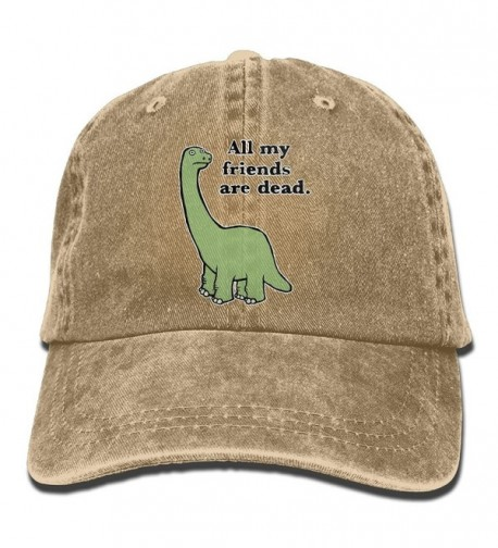 Men And Women All My Friends Are Dead Dinosaur Vintage Jeans Baseball Cap - Natural - CG187Y2TECA